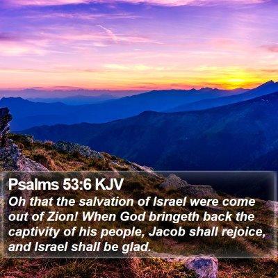 Psalms 53:6 KJV Bible Verse Image