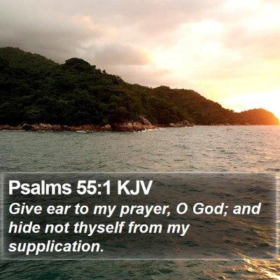 Psalms 55:1 KJV Bible Verse Image