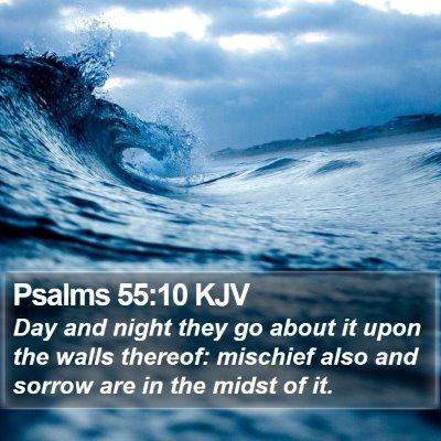 Psalms 55:10 KJV Bible Verse Image