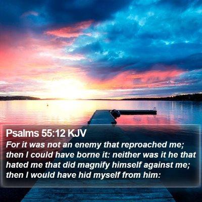 Psalms 55:12 KJV Bible Verse Image