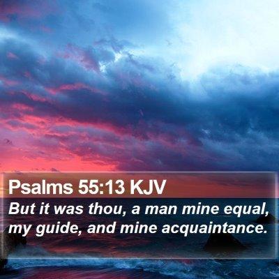 Psalms 55:13 KJV Bible Verse Image