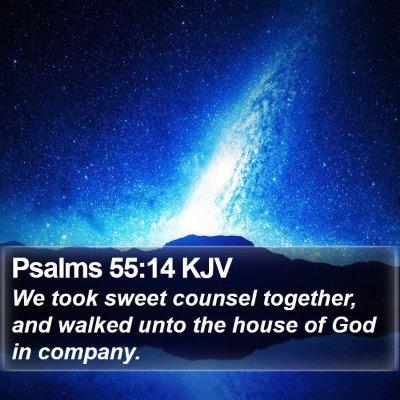 Psalms 55:14 KJV Bible Verse Image