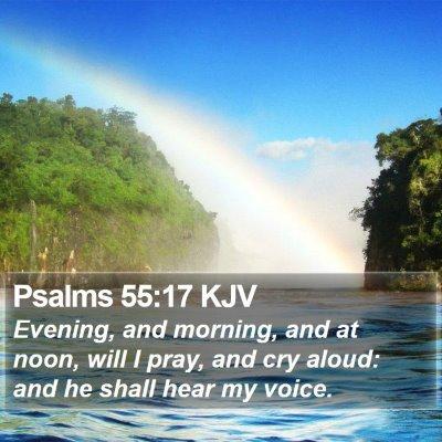 Psalms 55:17 KJV Bible Verse Image