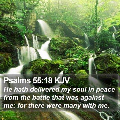 Psalms 55:18 KJV Bible Verse Image
