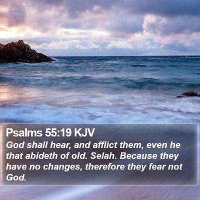 Psalms 55:19 KJV Bible Verse Image