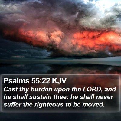 Psalms 55:22 KJV Bible Verse Image