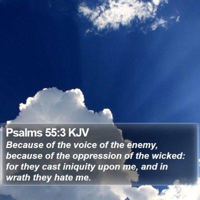 Psalms 55:3 KJV Bible Verse Image