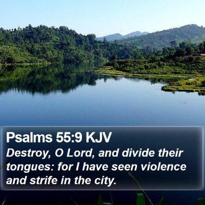 Psalms 55:9 KJV Bible Verse Image