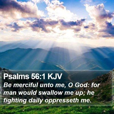 Psalms 56:1 KJV Bible Verse Image