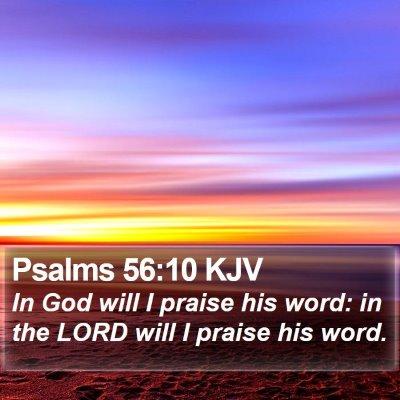 Psalms 56:10 KJV Bible Verse Image
