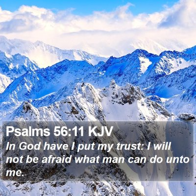Psalms 56:11 KJV Bible Verse Image