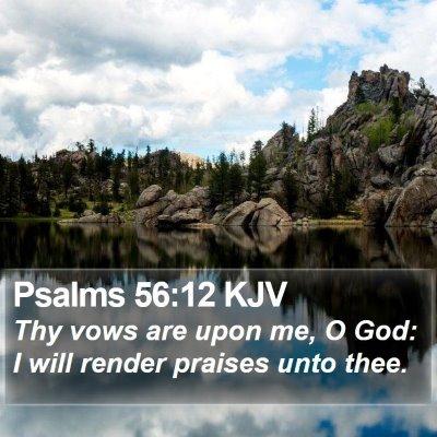 Psalms 56:12 KJV Bible Verse Image