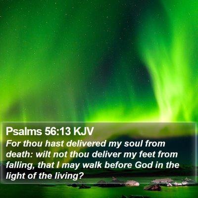 Psalms 56:13 KJV Bible Verse Image