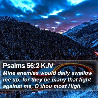 Psalms 56:2 KJV Bible Verse Image