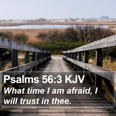 Psalms 56:3 KJV Bible Verse Image