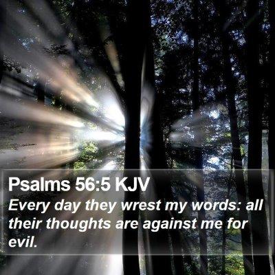 Psalms 56:5 KJV Bible Verse Image