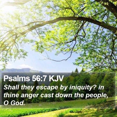 Psalms 56:7 KJV Bible Verse Image