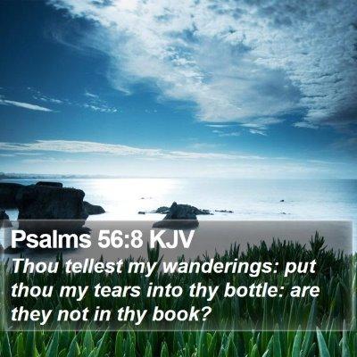 Psalms 56:8 KJV Bible Verse Image