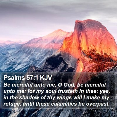 Psalms 57:1 KJV Bible Verse Image