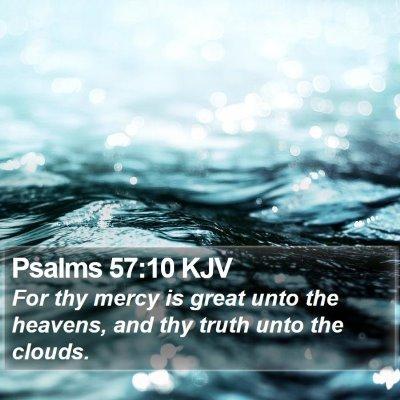 Psalms 57:10 KJV Bible Verse Image