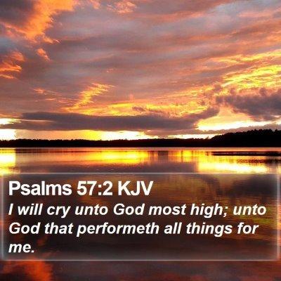Psalms 57:2 KJV Bible Verse Image