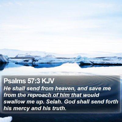Psalms 57:3 KJV Bible Verse Image