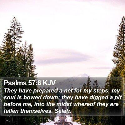 Psalms 57:6 KJV Bible Verse Image