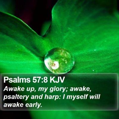 Psalms 57:8 KJV Bible Verse Image
