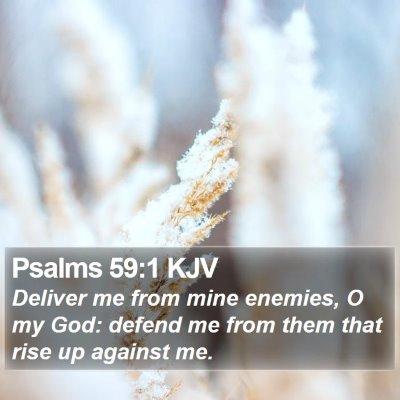 Psalms 59:1 KJV Bible Verse Image