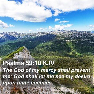 Psalms 59:10 KJV Bible Verse Image