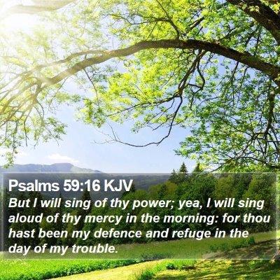 Psalms 59:16 KJV Bible Verse Image