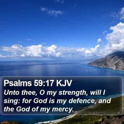 Psalms 59:17 KJV Bible Verse Image