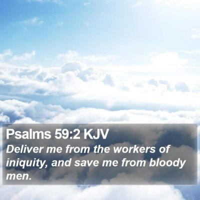 Psalms 59:2 KJV Bible Verse Image