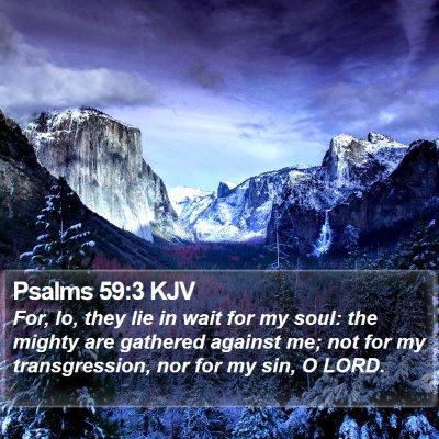 Psalms 59:3 KJV Bible Verse Image