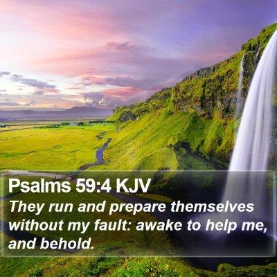 Psalms 59:4 KJV Bible Verse Image