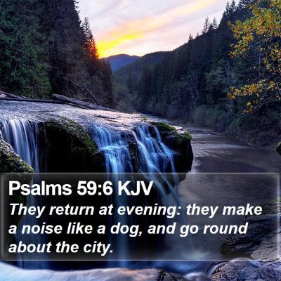 Psalms 59:6 KJV Bible Verse Image