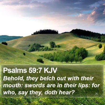 Psalms 59:7 KJV Bible Verse Image