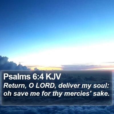 Psalms 6:4 KJV Bible Verse Image