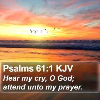 Psalms 61:1 KJV Bible Verse Image