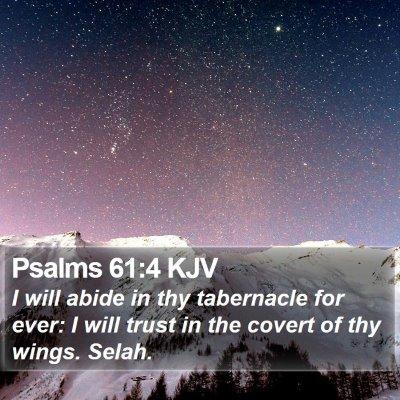 Psalms 61:4 KJV Bible Verse Image