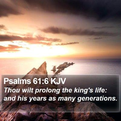 Psalms 61:6 KJV Bible Verse Image