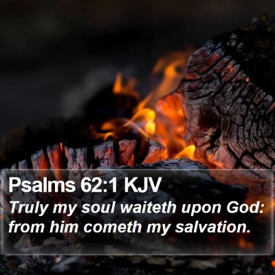 Psalms 62:1 KJV Bible Verse Image