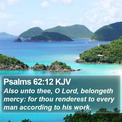 Psalms 62:12 KJV Bible Verse Image