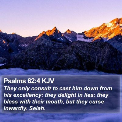 Psalms 62:4 KJV Bible Verse Image