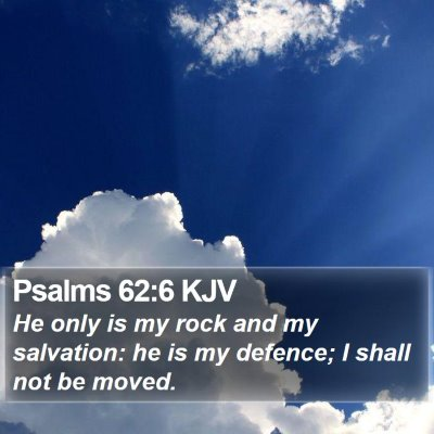 Psalms 62:6 KJV Bible Verse Image