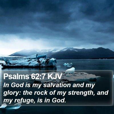 Psalms 62:7 KJV Bible Verse Image