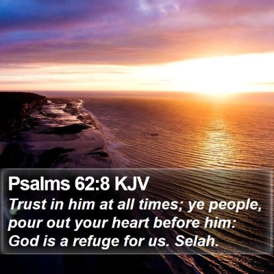 Psalms 62:8 KJV Bible Verse Image