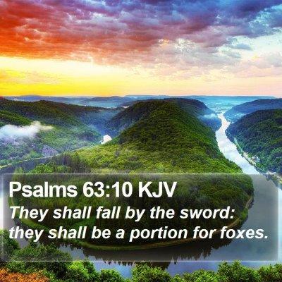 Psalms 63:10 KJV Bible Verse Image
