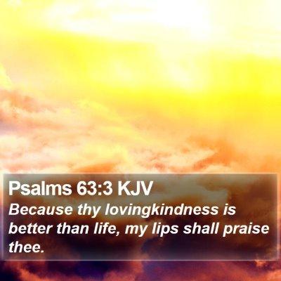 Psalms 63:3 KJV Bible Verse Image