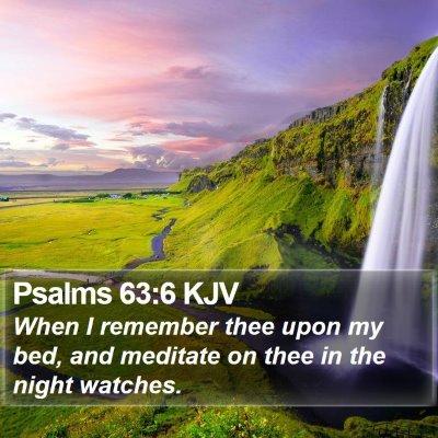 Psalms 63:6 KJV Bible Verse Image